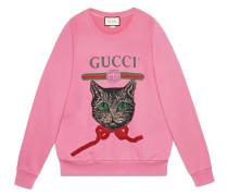 logo sweatshirt with Mystic Cat