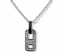 18kt Schwarzgoldhalskette mit Diamanten