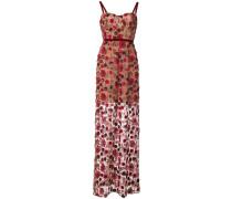 Kleid mit Blütenstickerei