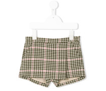 checked houndstooth shorts