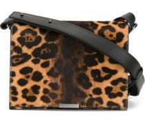 Schultertasche mit Leoparden-Print