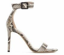 Neyla snakeskin-effect sandals