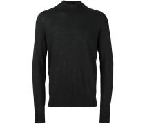 Pullover mit geripptem Rundhalsausschnittt
