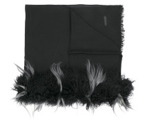 shearling-trimmed scarf