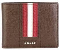 striped logo wallet