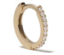 18kt 'Margot' Goldcreole mit einem Diamanten