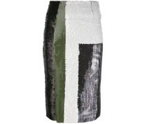 - sequin multistriped skirt - women