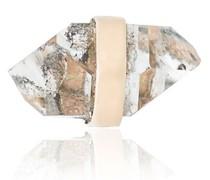 quartz stud earring