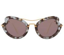 - Oversized-Sonnenbrille in Schildpattoptik