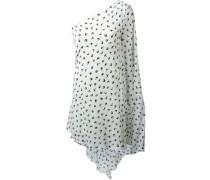 Asymmetrisches Kleid mit Schwalben-Print