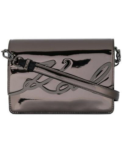 Steckdose Zuverlässig Karl Lagerfeld Damen K/Signature glossy shoulder bag Spielraum Erstaunlicher Preis rH9HYS67zG