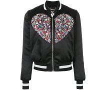 Swarovski crystal embellished bomber jacket