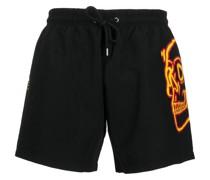 skull-print swim shorts