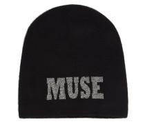 """Kaschmirbeanie mit """"Muse""""-Motiv"""