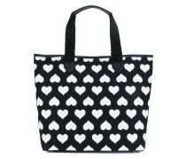 heart print shopper tote