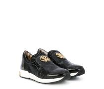 Slip-On-Sneakers mit Logo-Schild - Unavailable