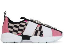 embellished printed sneakers