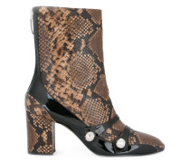 snakeskin-effect boots
