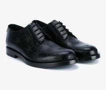 Derby-Schuhe mit Sterne-Print