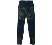 Torus stitch denim trousers