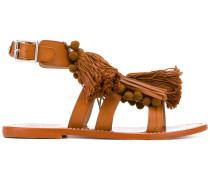 Sandalen mit Quasten - women - Leder - 40