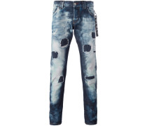 Schmale 'String' Distressed-Jeans mit
