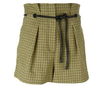 origami pleat houndstooth shorts