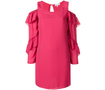 cold-shoulder ruffle sleeve dress