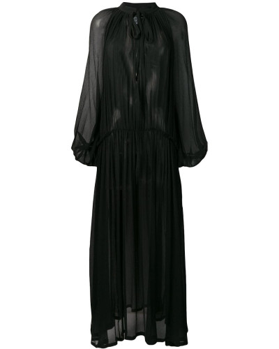 pleated detail dress