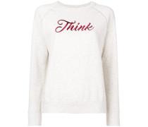 'Think' Sweatshirt mit Stickerei