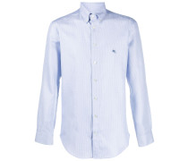 embroidered logo button-down shirt