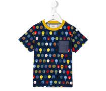T-Shirt mit Glühbirnen-Print