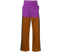 colour-block wide leg trousers