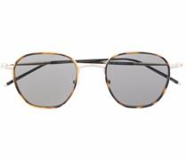 tortoiseshell-effect round-frame sunglasses