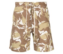 A.P.C. Shorts mit Camouflage-Print