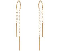 Ohrringe aus 14kt Gold mit Ketten-Details