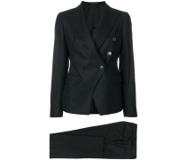 double-breasted trouser suit