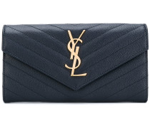 large Monogram flap wallet - women - Leder