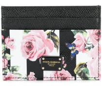 rose print card holder