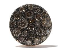 18kt 'Sabbia' Rotgoldohrring mit Diamanten
