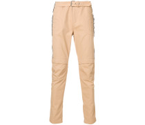 zipped quilted chinos
