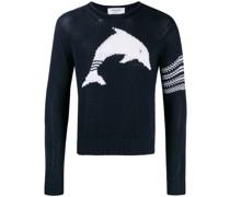 Intarsien-Pullover mit Delfin
