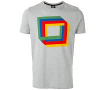 T-Shirt mit Quadrate-Print - men - Organische