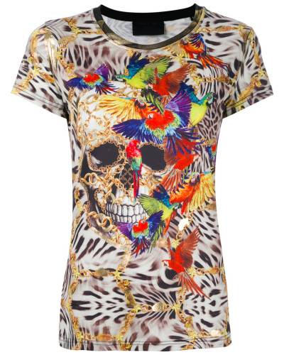 - 'Animalier' T-Shirt - women - Polyester - M