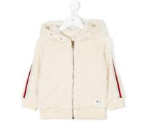 faux fur zipped hoodie