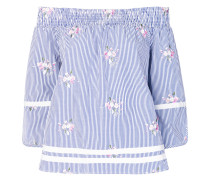 striped floral blouse