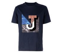 T-Shirt mit Marmor-Print