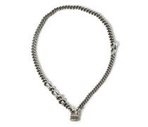 Halskette mit Schloß-Anhänger