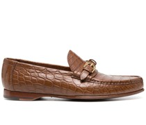 'Caiden' Loafer mit Kroko-Optik