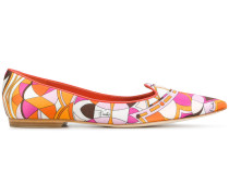 printed point-toe slippers